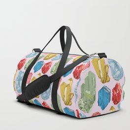 Crystals and Minerals Pattern Duffle Bag