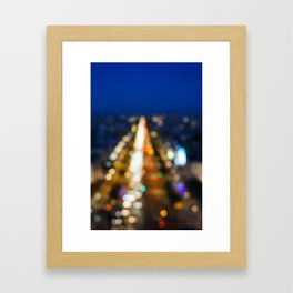 Paris Nighttime Traffic Framed Art Print
