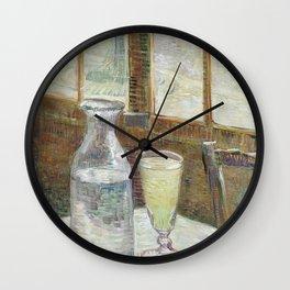 Café table with absinth Wall Clock