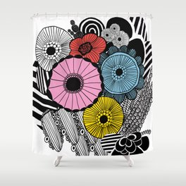 Heart in Flowers, inspired by Marimekko Shower Curtain