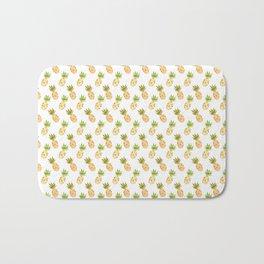 Tropical Watercolour Pineapples Bath Mat