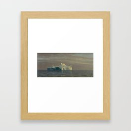 Albert Bierstadt 1830-1902 ICEBERG Framed Art Print
