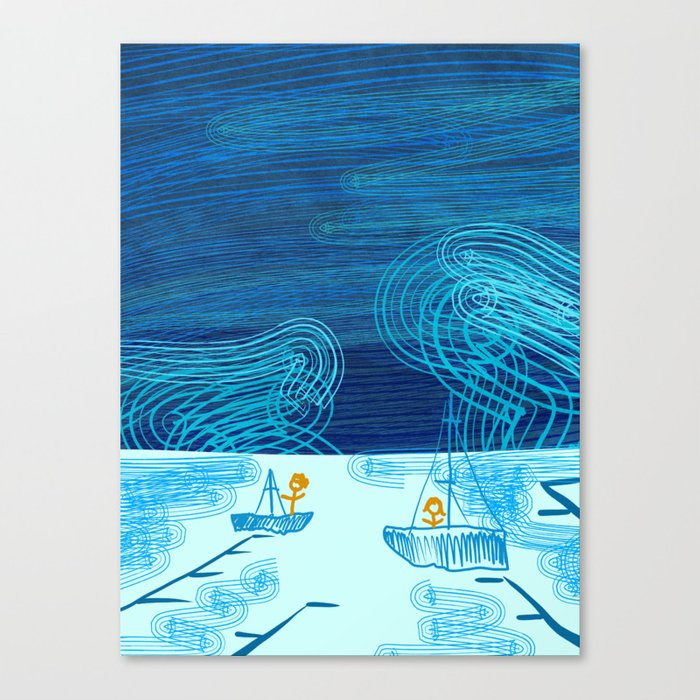 Of Boats And Sky Canvas Print
