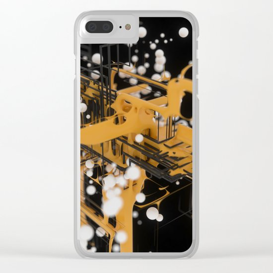 Data Network Clear iPhone Case