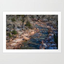 Virgin_River 4784 - Canyon_Junction, Zion_National_Park Art Print