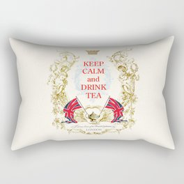 Keep calm and drink tea Rectangular Pillow