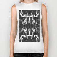 occult Biker Tanks featuring VINTAGE OCCULT by Kathead Tarot/David Rivera