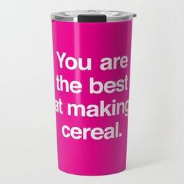 Making Cereal Travel Mug