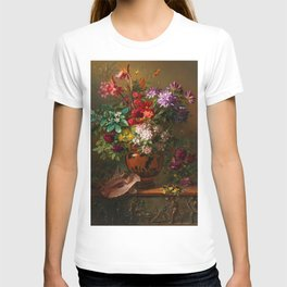 """George Jacobus Johannes van Os """"Still Life with Flowers in a Greek Vase Allegory of Spring"""" T-shirt"""