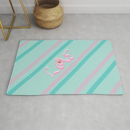 Pink&green mint Love Rug