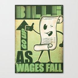 Wealth Divide Canvas Print