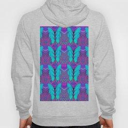 MODERN ART NEON BLUE BUTTERFLIES SURREAL PATTERNS Hoody