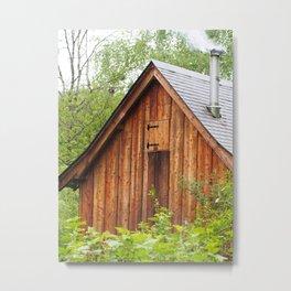 Wood cabin Metal Print