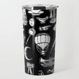 Vintage Retro Hand Drawn Illustrations Travel Mug