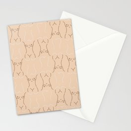 Nude, nudes line drawing/ pattern of female body Stationery Cards