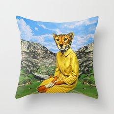Cat Madam Throw Pillow