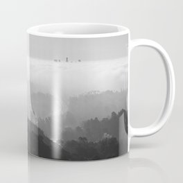 Above The Clouds | Los Angeles | Black & White Coffee Mug