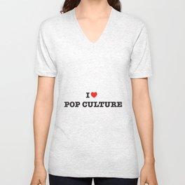 I Heart Pop Culture Unisex V-Neck