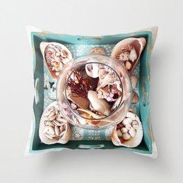 Seashell Centerpiece Throw Pillow