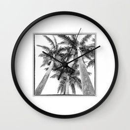 France, Martinique, Palm Trees Wall Clock