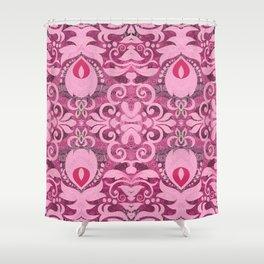 Pretty Flirty Boujee Boho French Style Print Shower Curtain