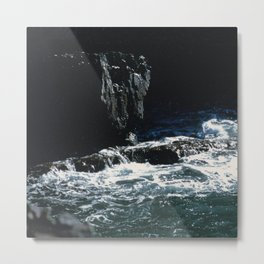 Dark Oceanic Cliff Metal Print