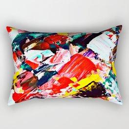 Red Intersections Rectangular Pillow