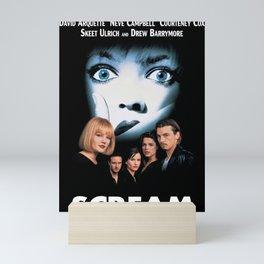 Scream movie poster print Wes Craven, Horror Mini Art Print
