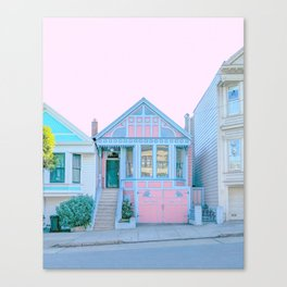 San Francisco Painted Lady Victorian House Canvas Print