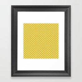 Dragon Scales Mustard Framed Art Print