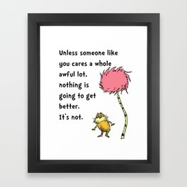 Dr Seuss Lorax Framed Art Print