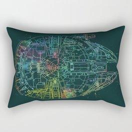 Millennium Falcon Painters Schematic Rectangular Pillow