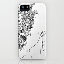 She's choking on everything she wanted to be beautiful.  iPhone Case