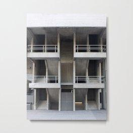 beton brut balconies - national theatre london Metal Print