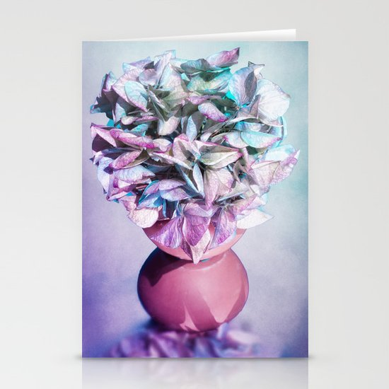 NOSTALGIA - Still life with vase and hydrangea flowers Stationery Cards