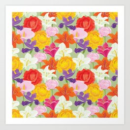 Bright Flower Garden Art Print