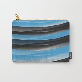 Black Blue Carry-All Pouch