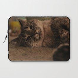 Cat on Floor Laptop Sleeve