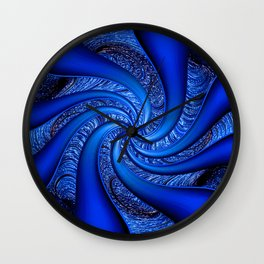 Twisted in Blue... Wall Clock