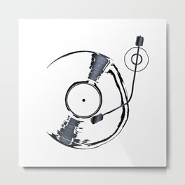 Record Deck Background Metal Print