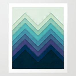 Retro Chevrons 001 Art Print