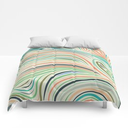 Multicolor abstract wavy lines pattern Comforters
