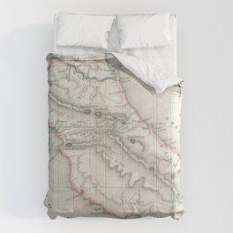 Vintage Map of Costa Rica (1851) Comforters