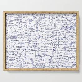 Physics Equations in Blue Pen Serving Tray
