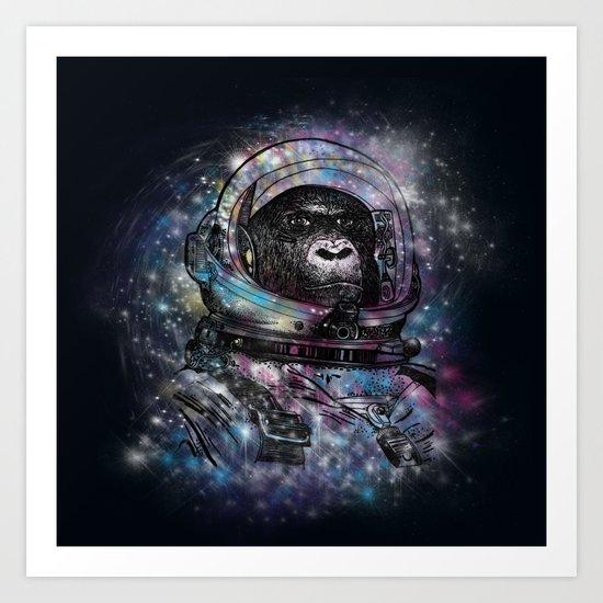 Future monkey Art Print