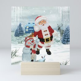 Funny Santa Claus Mini Art Print