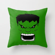 Minimalist Hulk Throw Pillow