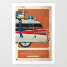 Ecto-1 from Ghostbusters part III of III Art Print