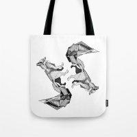 literature Tote Bags featuring literature fox 3 by vasodelirium