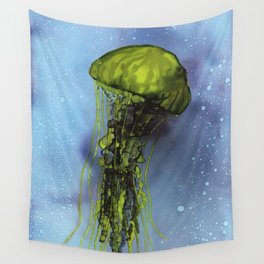 Jellyfish - alcohol ink Wall Tapestry